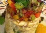 Crab Salad with Avocado and Gazpacho Salsas