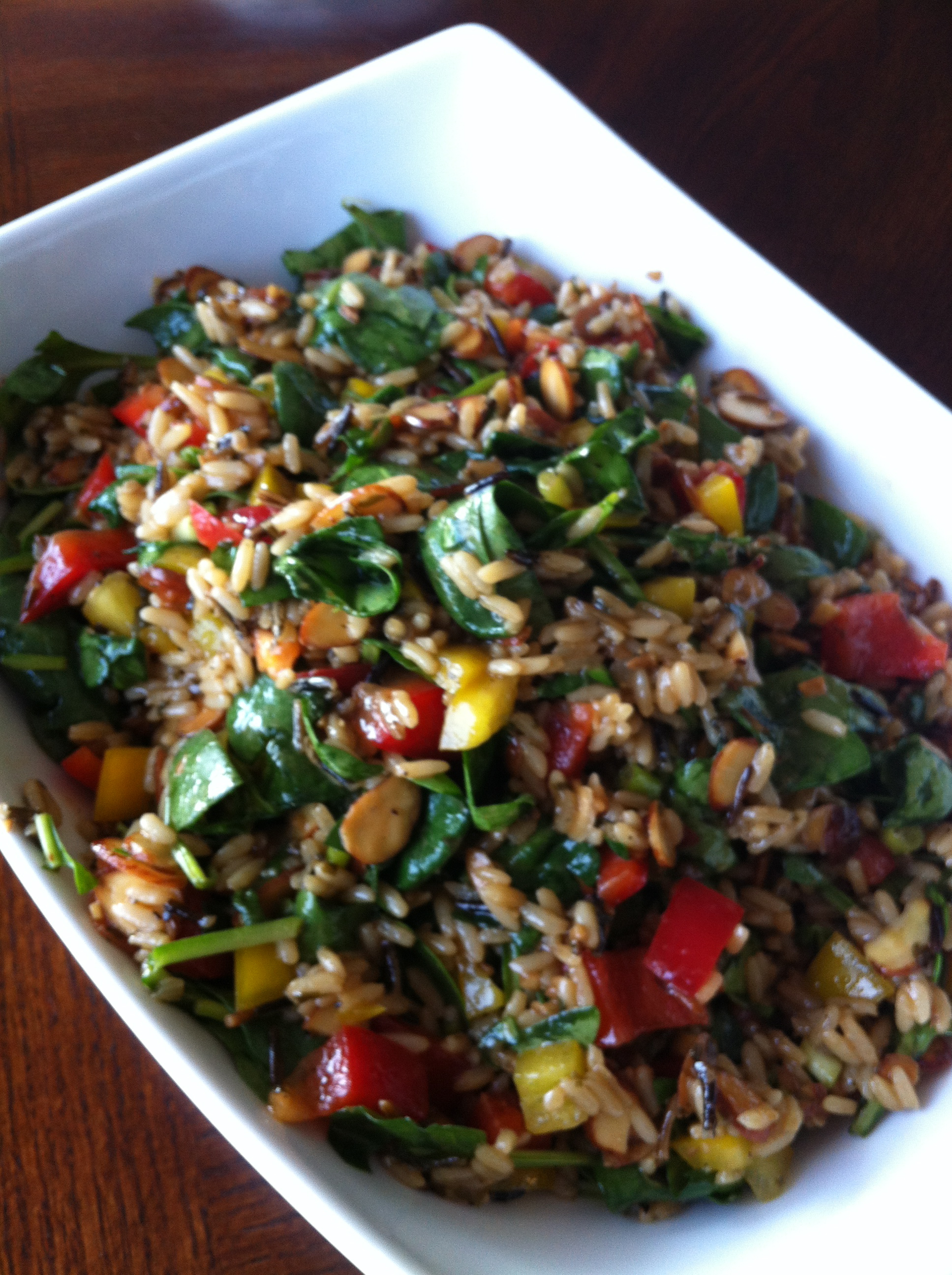 Spinach & Rice Salad | Daily Dinner Table